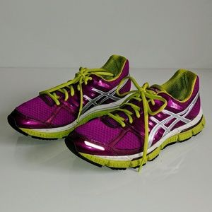 Asics Gel-neo 33 purple/green running shoes sz 8